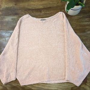 Sweet Rain Faux Chenille Bat Arm Sweater